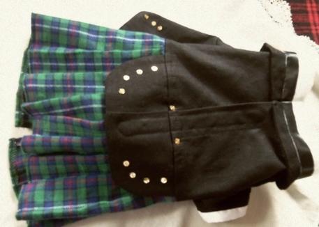 Black Watch Plaid Tuxedo Kilt for Terriers