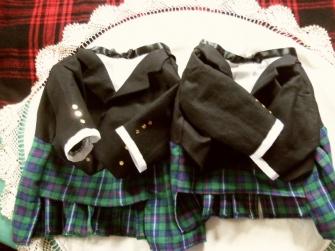 Twin Tuxedo Kilts for Terriers