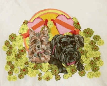 some of our friends, Yorkie and Schnauzer