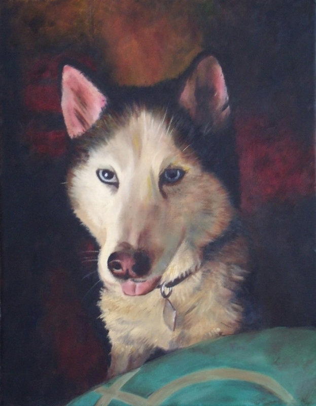 Ivan the Husky, oil painting