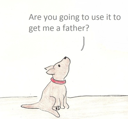 Are you going to use it to get me a father?