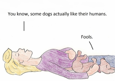You know, some dogs actually like their humans. Fools.