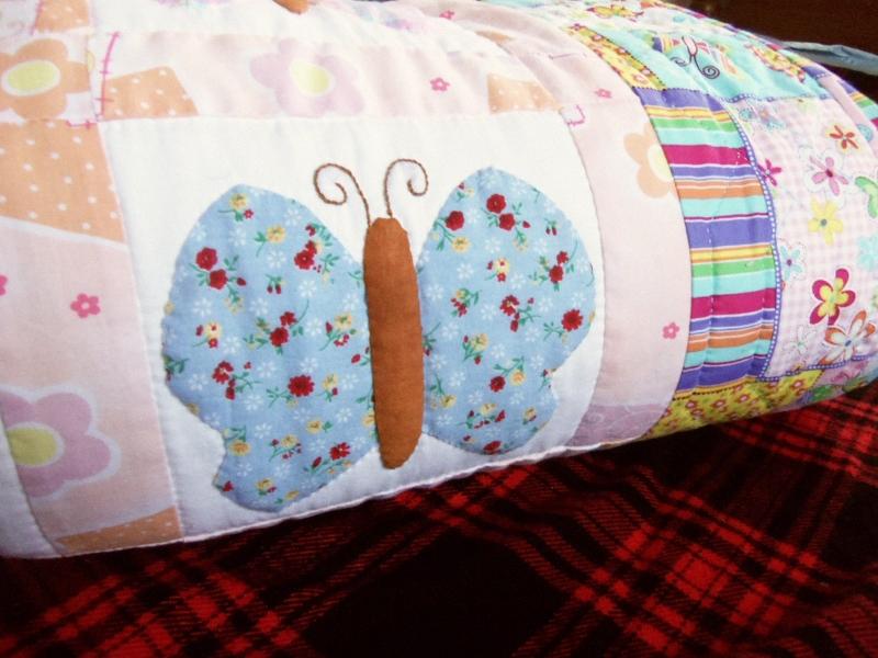Handmade Butterfly Quilt.