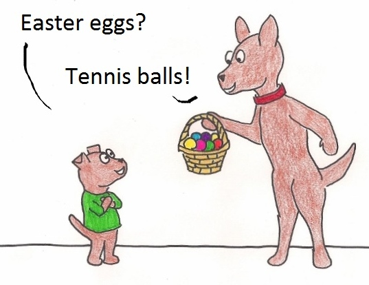 Easter eggs? Tennis balls!