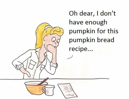 Oh dear, I don't have enough pumpkin for this pumpkin bread recipe...