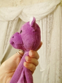 Plush purple dog toy