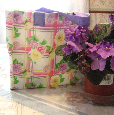 Floral Gift Bag in pastel colors