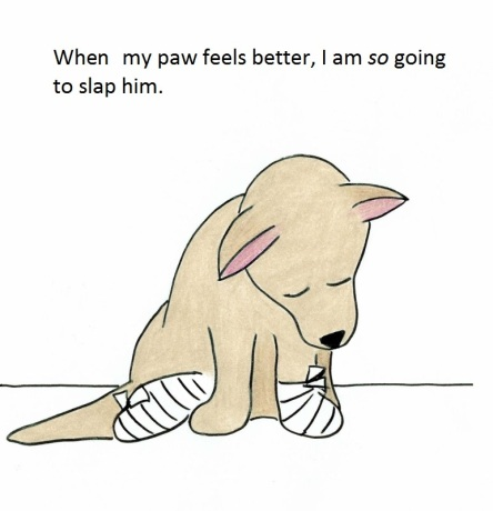 When my paw feels better, I am so going to slap him.