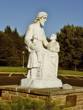 Statue of Christ and children