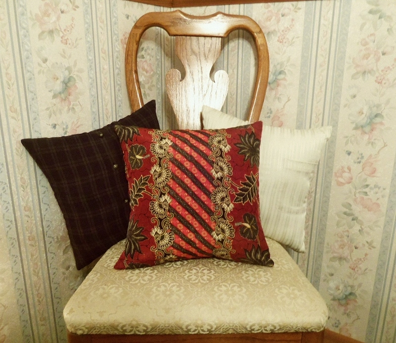 Memory Pillows on a chair.
