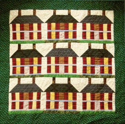 Handmade Madison House quilt.