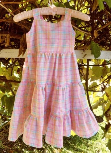 Little Girl's Pastel Plaid Sundress