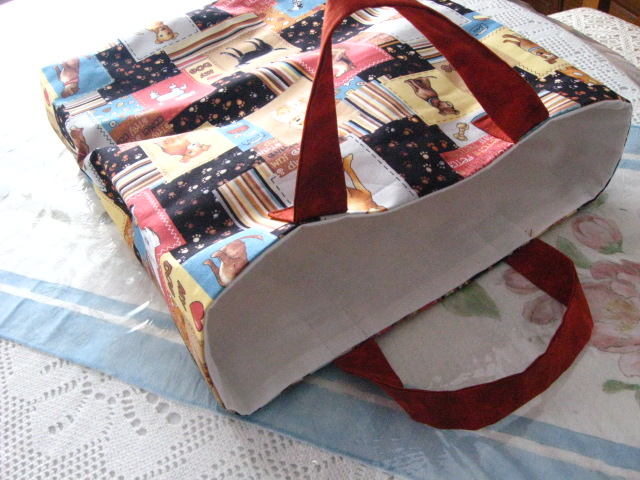 Dog themed reusable gift bag / tote bag.