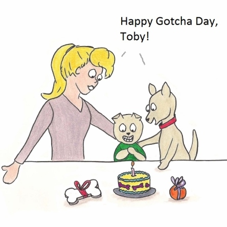 Happy Gotcha Day, Toby!