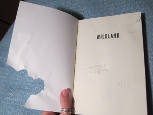 Chewed cover of the book Wild Land.