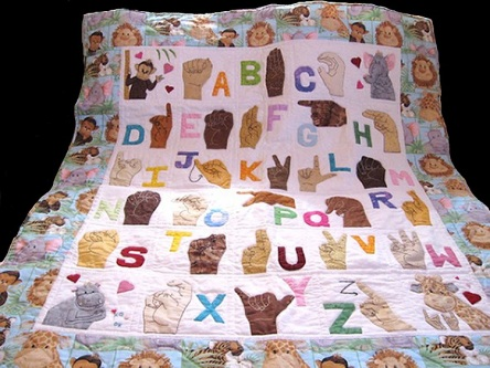 Handmade American Sign Language/ASL Quilt