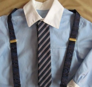 Boy's dress shirt, tie and suspenders