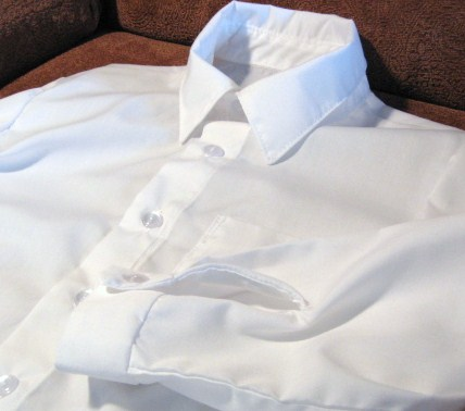 Boy's Long Sleeved White Shirt