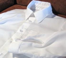 Boy's Long Sleeved White Shirt