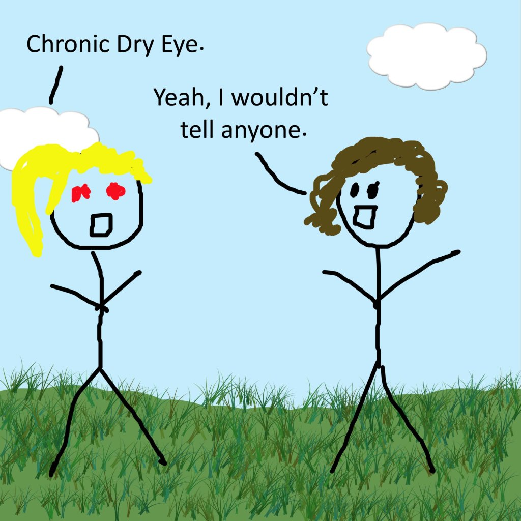 Chronic Dry Eye.  Yeah, I wouldn't tell anyone.